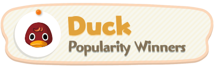 ACNH - Duck Popularity Winners