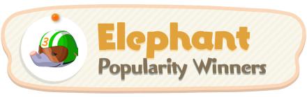ACNH - Elephant Popularity Winners