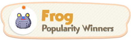 ACNH - Frog Popularity Winners