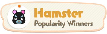 ACNH - Hamster Popularity Winners