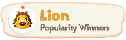 ACNH - Lion Popularity Winners