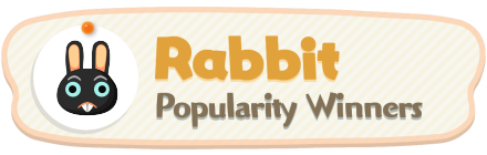 ACNH - Rabbit Popularity Winners