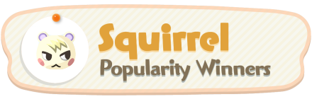ACNH - Squirrel Popularity Winners