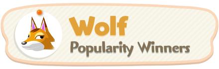 ACNH - Wolf Popularity Winners