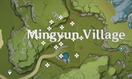Genshin - Lost Riches - Treasure Area Map 7 - Mingyun Village (1).png