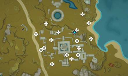 Genshin - Lost Riches - Treasure Area Map 4 - Guili Plains (1).png