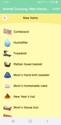 ACNH - NookLink 20 Recent Items