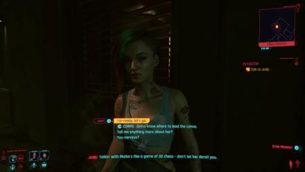 Cyberpunk 2077 - Meet Judy on Clouds