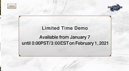 Limtied Time Demo
