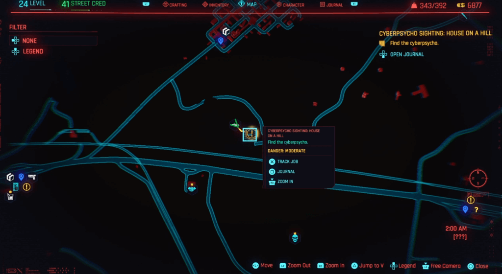 Cyberpunk 2077 Cyberpsycho Sighting House on a Hill Map.png