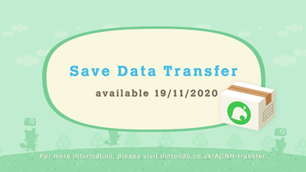 ACNH - Save Data Transfer Release Date