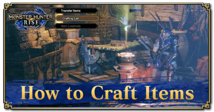 Crafting List and How to Craft Items