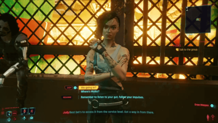 Cyberpunk 2077 - Go to Megabuilding H8 in the afternoon