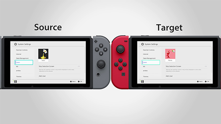 Transfering User Data to Target Switch