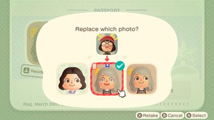 ACNH - Change Passport Photo