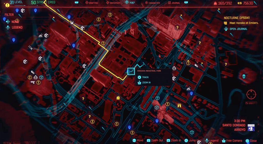 Cyberpunk 2077 Skill Shard Location 22.png