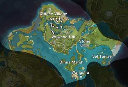 Genshin Impact - Bishui Plain Map - Glaze Lily.jpg