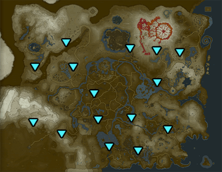 BotW - All Tower Locations Map
