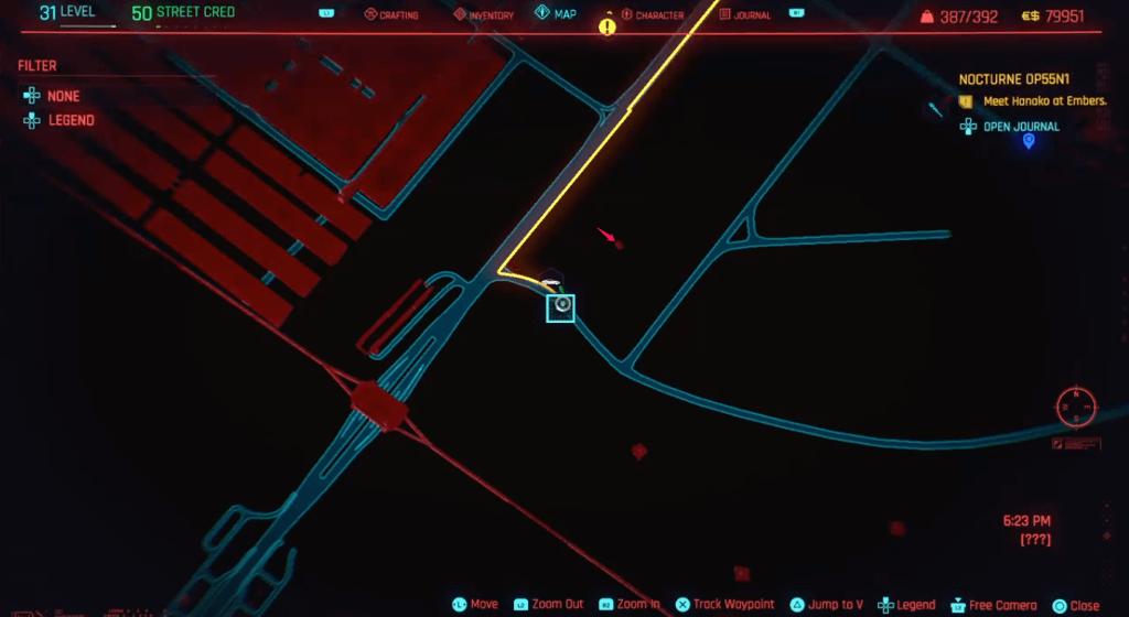 Cyberpunk 2077 Skill Shard Location 28 (edited).png