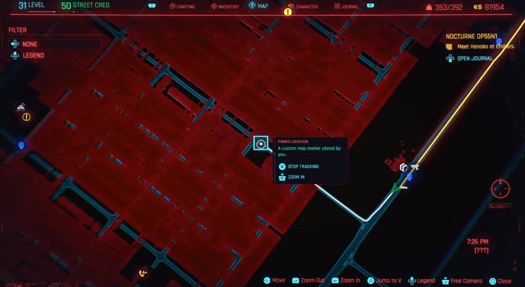 Cyberpunk 2077 Skill Shard Location 30.png