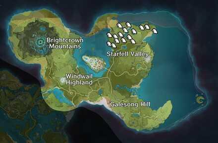 Genshin - Mondstadt - Valberry Map
