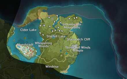 Genshin Impact - Starfell Valley Map - Valberry