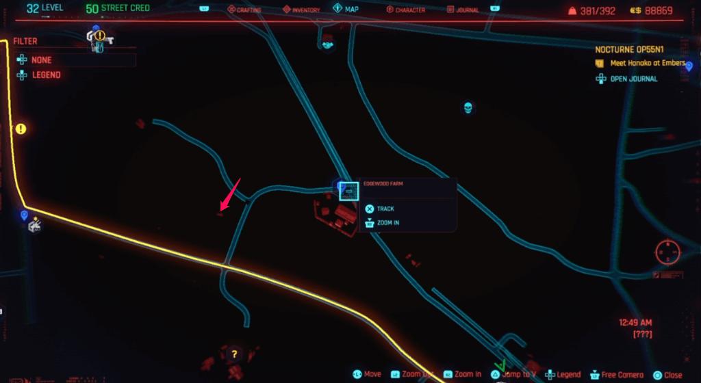 Cyberpunk 2077 Skill Shard Location 35 (edited).png