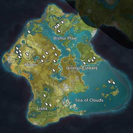 Genshin - Liyue - Qingxin map.jpg