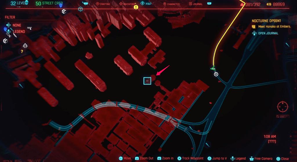 Cyberpunk 2077 Skill Shard Location 37 (edited).png