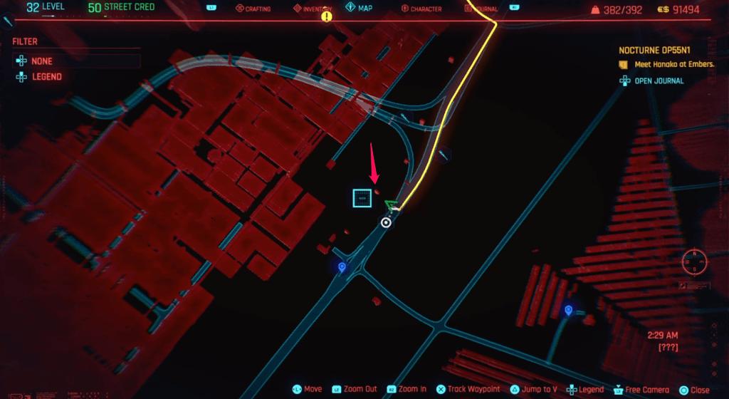 Cyberpunk 2077 Skill Shard Location 38 (edited).png