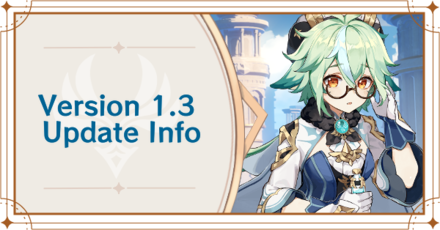 Genshin - Impact - Version 1.3 Update Info