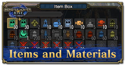 List of Items and Materials