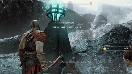 GoW - Unfinished Business Favor Walkthrough