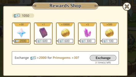 Genshin - Slime Paradise Reward Shop