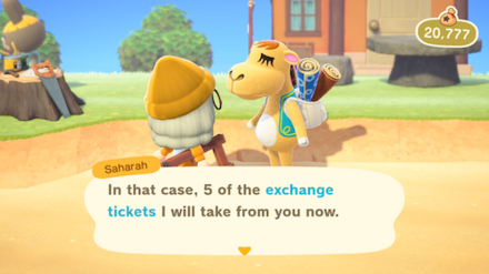 ACNH - Exchange Saharah Tickets.png