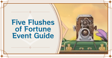 Genshin Impact - Camera Event Guide - Five Flushes of Fortune