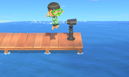 ACNH - Swimming and Diving - Jump from the Pier.png