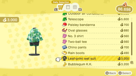 ACNH - Nook Shopping - Leaf-print Wet Suit.png