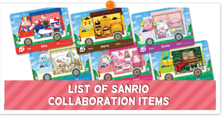 List of Animal Crossing Sanrio Collaboration Pack Collection Banner.png