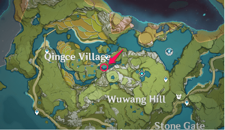 Genshin Impact - Location of Qingce Stir Fry Recipe from Ms. Bai in Qingce Village