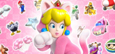 Cat Tour Featured Character - Cat Peach - Mario Kart Tour.png