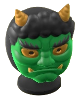 The Green version of Horned-Ogre Mask