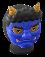 The Blue version of Horned-Ogre Mask