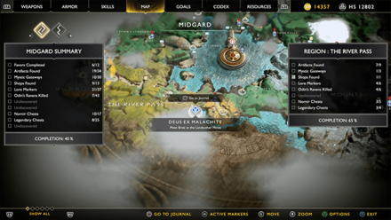 GoW - Deus Ex Malachite Favor Landsuther Mines Map Location