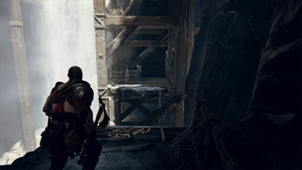 GoW - Deus Ex Malachite Favor Ledge Turn Left