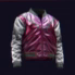 Multilayered Maroon Scales Syn-Coated Bomber