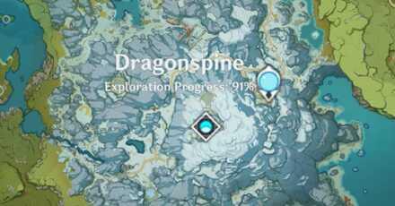 Genshin - Blue Creatures - Dragonspine Map