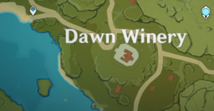 Genshin - Blue Creatures - Dawn Winery Map