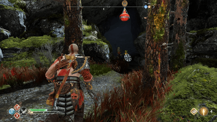 GoW - The Fire of Reginn Cave Leading to the Second Dragon Shrine