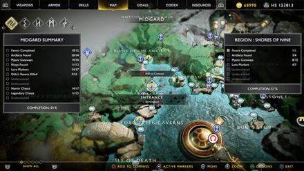 GoW - Hail to the King Konunsgard Map Location